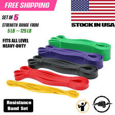 Pull up Assist Heavy Duty Resistance Band Loop Gym Exercise Workout Body Stretch