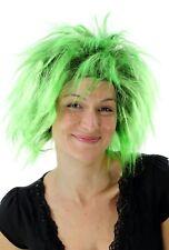 Punk 80er Wig Black Green Carnival Wig Ndw New Wave Pop Wig PW0078