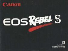 Canon EOS Rebel S Instruction Manual Original