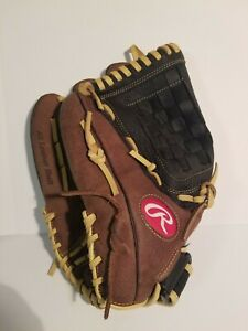 """Rawlings RBG36BC 12.5"""" Baseball Glove Left Handed Thrower  Lefty Excellent Cond."""