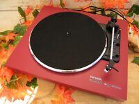 ♫ PLATINE VINYLE THORENS MUSIC ON VINYL EDITION (rouge)+ KIT COMPLET NETTOYAGE ♫