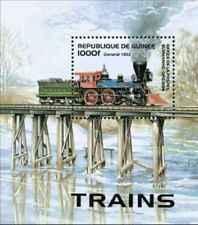 Timbre Trains Guinée BF113 ** lot 24593
