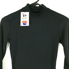 NWT Ultimate Sports Apparel Womens Athletic Top Small S Black Turtleneck Shirt