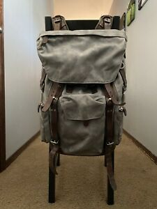 Wotancraft Commander Camera Bag 21L Olive Green Canvas / Brown Leather $700