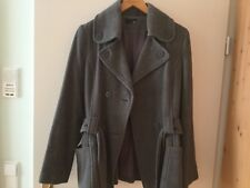graue Damen-Flanell-Jacke Gr 40/42 mit Gürtel H&M