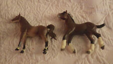 "Safari Ltd. 04 Ws Clydesdale Colt Toy Farm Animal 3.5"" Long 3"" Tall Lot 2 Horses"