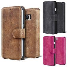Handy Tasche Flip Leder Case Schutz Hülle Etui Cover Schale Wallet + Panzerglas