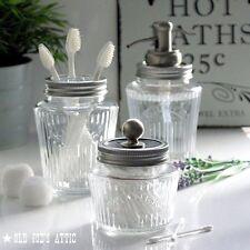 Kilner Vintage Glass Preserve Jar Bath Accessory Set with Nickel Water Well Pump