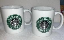 Starbucks ~ 2 Coffee Mugs ~ 9 oz - 2005 (B)
