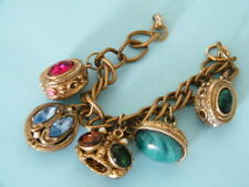 A MUST HAVE 5 CHUNKY COLORFUL STONE VICTORIAN BAUBLE BRACELET LOOK SEE