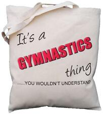 It's a GYMNASTICS thing - you wouldn't understand - Natural Cotton Shoulder Bag
