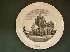 VINTAGE TRINITY CHURCH BOSTON USA - COPELAND SPODE CHINA PLATE