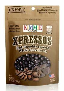 1 BAG Kimmie Candy Xpressos Chocolate Covered Espresso Beans 6.5 oz