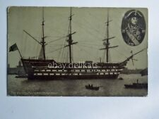 NAVE ship The VICTORY Portsmouth Harbour Royal Navy veliero old postcard