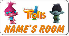 Personalised DreamWorks Trolls Aluminium Door Name Plaque