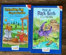 Lot 2 Hooked on Phonics Level 3 Paperback Books Detective Dog Picnic Black Rock