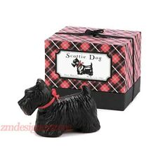 Black Scottie Dog Animal Triple French Milled Soap Gift Box Set Gianna Rose USA