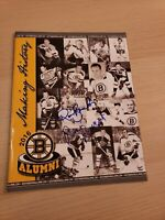 2016 Boston Bruins Alumni Program w/ 17 Autographs Signatures Signed