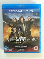 The Three Musketeers (3D Blu-ray, 2012, 2-Disc Set) FREE UK 🇬🇧 SHIPPING