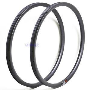27.5er 28H MTB Carbon Rim Clincher 35mm UD Matt Tubeless Mountain Wheel 650B