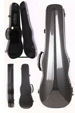 4/4 violin Case carbon Fiber Hard Case Back Strap Black Color 1.9kg Yinfente