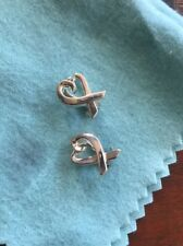 Authentic Tiffany & Co. Sterling Silver paloma Picasso loving Heart Clip Earring