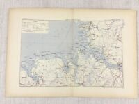 1881 Antique Military Map of Oldenburg Germany Hanover Holstein Helgoland