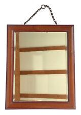 Miroir du XIXeme siècle à suspendre, salle de bain, bois