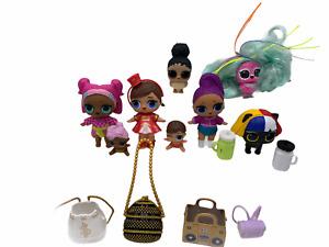 LOL Surprise Dolls Mixed Lot of Girls Majorette Pets Owls Babies Accessories