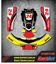 CRG 06 go kart  full custom KART ART sticker kit NERO STYLE / graphics