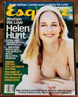 Esquire Magazine August 1998 Helen Hunt, Ashley Judd, Heather Graham Hugh Hefner