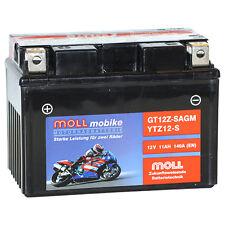 MOLL mobike gt12z-s AGM ytz12-s MOTO POTENCIA 12v/11ah 140a
