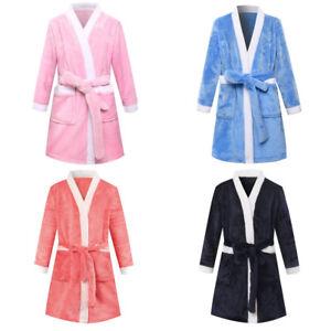 1 Piece Flannel Bathrobe For Children Kids Robes Multi-colors Pajamas Sleepwear