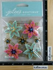 Jolee's FELTED HOLLY FLOWERS Boutique Stickers