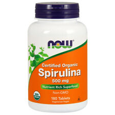 Spiruline Organique, 500mg X 180 Comprimés - Now Foods
