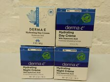 4 ~ Derma E Hydrating Day & Night Creme w Hyaluronic Acid 2OZ 2/2019 mixed lot