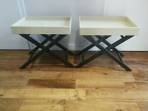 2 x side end tables