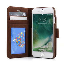 """Prodigee Wallegee Brown iPhone 7 4.7""""  2in1 Card Wallet Leather Flip Case Cover"""