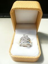 NWOT GOLD AND SILVER TONE SIZE 7 RING PURCHASED ONLINE QVC HSN JTV UNMARKED