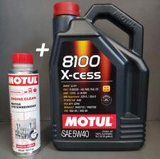 1 x 5 Litros Motul 8100 X-cess 5W40 Aceite de motor + 1 Sistema más limpio #####