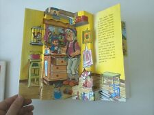 1981 Libro Animado Pop-Up, Collodi, Pinocho, Artes Graficas Cobas