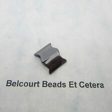 20 Hematite Two Hole Spacer Bat Wing Beads 18mm by 14mm by 5mm Thickness