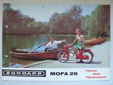 Prospekt Zündapp Mofa 25 Typ 434-02, ca.1967, 4 Seiten