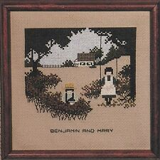"Cross Stitch Pattern by Marilyn Leavitt Imblum (Told In A Garden) ""Amish Kids"""