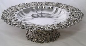Very Rare Howard & Co New York Solid Sterling Silver Rose Bowl 1900 *Superb*