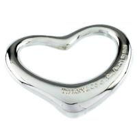 Tiffany & Co. Elsa Peretti Open Heart Large Sterling Silver Pendant