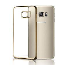 For Samsung Galaxy S7 /Edge Ultra-thin Metallic Clear Rubber Soft TPU Cover Case