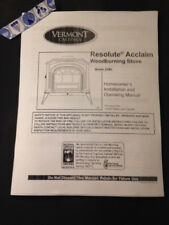 Vermont Castings Resolute Acclaim  wood stove manual operation installation