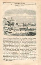 Ruines du Pont Saint-Bénézet Avignon le Rhône par Pierre Thuillier GRAVURE 1846