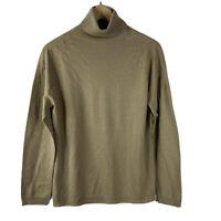 Escada Sweater Size Large Womens Brown Sebastiane Turtleneck Wool Silk Top